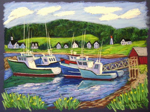 """Margaree Harbour Boats, 19x25"""""""