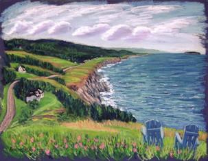 "Cabot Trail View, Cape Breton, 19x25"""