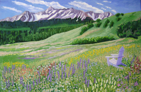 "Faraway Meadow, Telluride, CO, 40x60"""