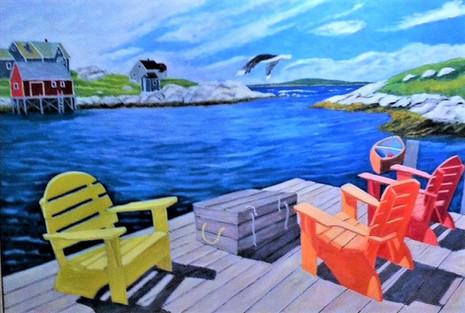 """Peggy's Cove, Nova Scotia, 40x60"""""""