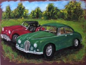Jaguar and Triumph TR-3