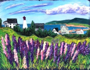 """Margaree Harbour Lupin, 19x25"""""""
