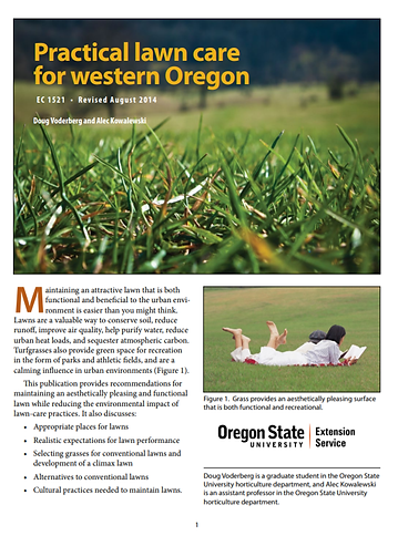 Practical Lawn Care for Western Oregon