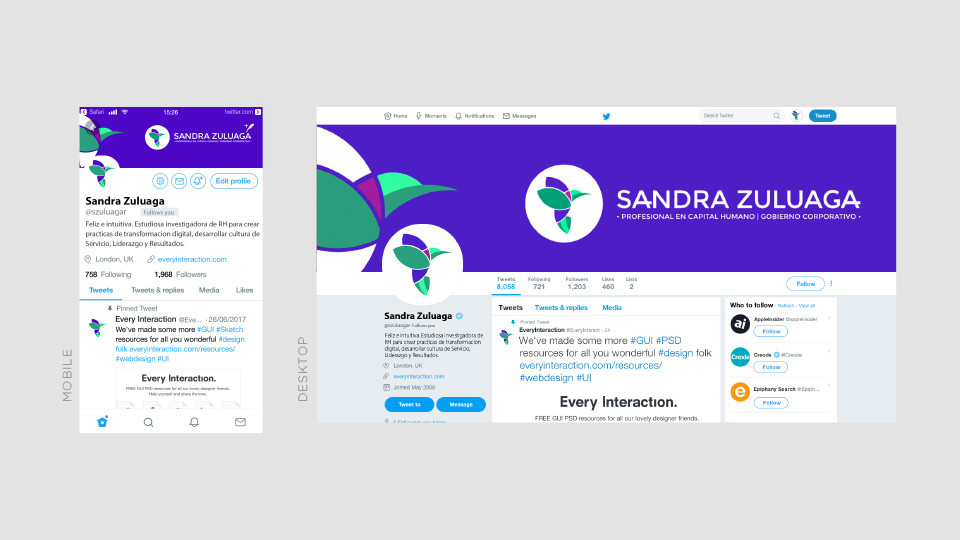 Redes sociales - Sandra Zuluaga