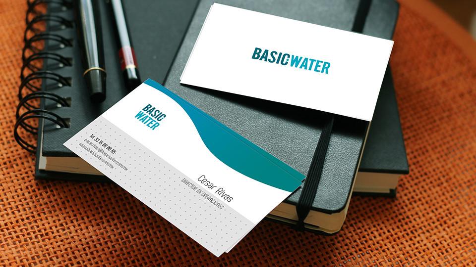 Tarjetas de presentación - Basic Water