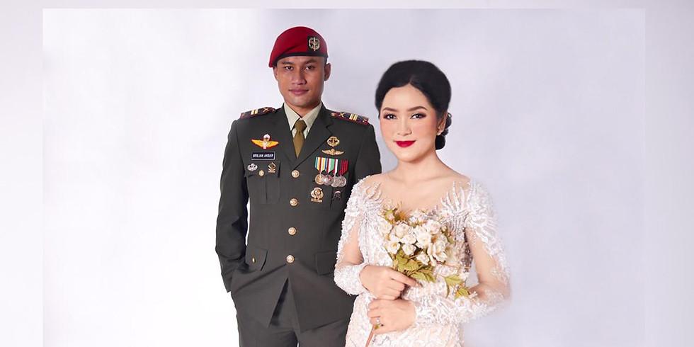 Resepsi Pernikahan Dhiya Novelia S M dan Lettu Inf Brilian Herdithra Fadhillah Akbar ST Han