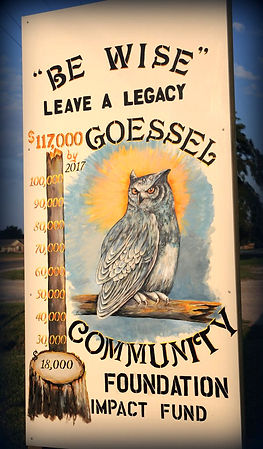 Owl sign-Goessel Community Foundation