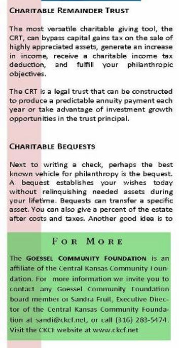 Goessel Community Foundation Trust Statement