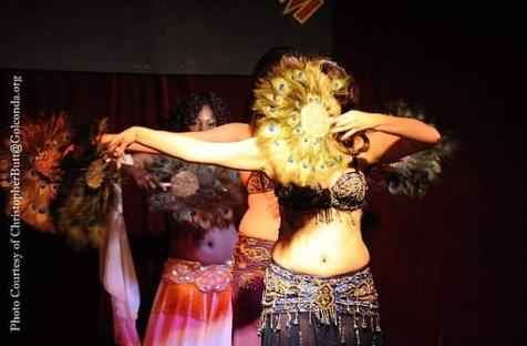 Feather Fan veils dancer