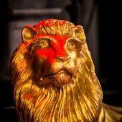 Lion head decor