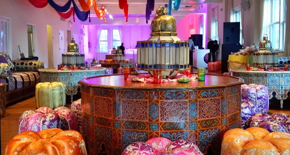 Big ornate painted table
