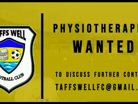 Vacancy - First Team Physiotherapist required