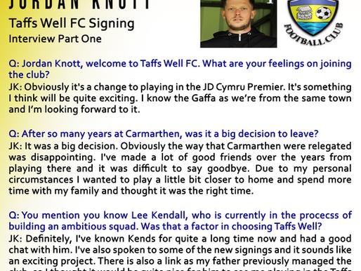 Taffs Well FC New Signing - Jordan Knott