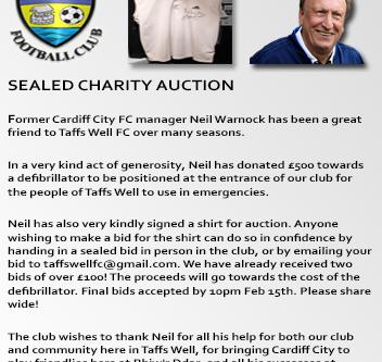 Charity Auction - Neil Warnock Shirt