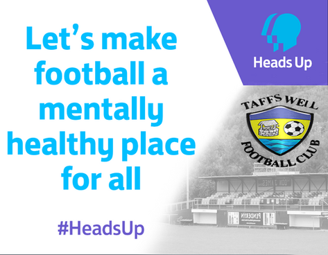 Taffs Well Football Club shows support for 'Mentally Healthy Football'