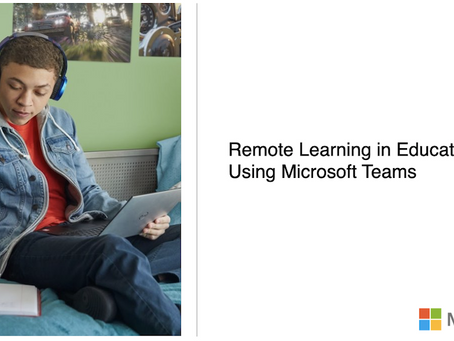 Remote learning in education using Microsoft Teams