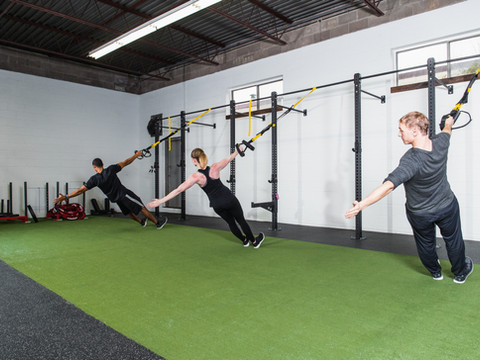 We offer a variety of group fitness classes (TRX, Bootcamp, BodyShred, HIIT & ABS, Boxing and Mobility)