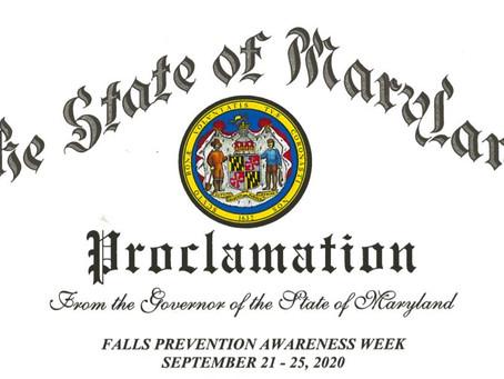 Falls Prevention Awareness September 2020