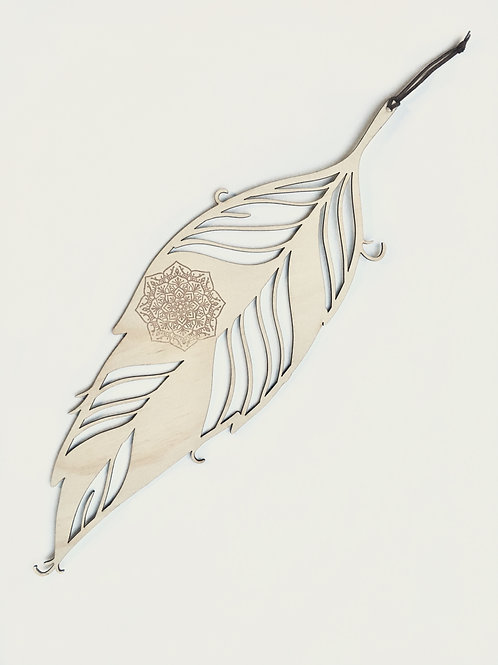 W/Sale-  Large Feather - 56cm with Mandala