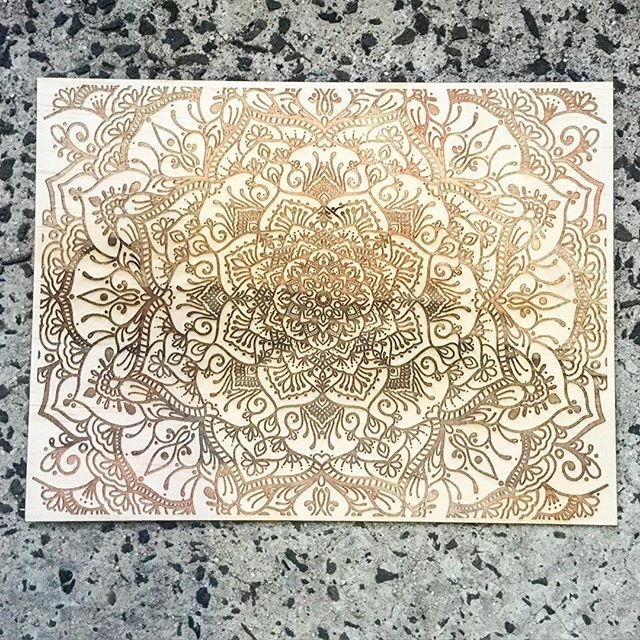 A3 Laser Etched Mandala Artwork