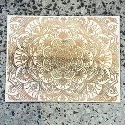 A3 Laser Etched Mandala Artwork