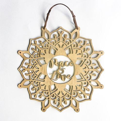 'Peace & Love' Affirmation Mandala