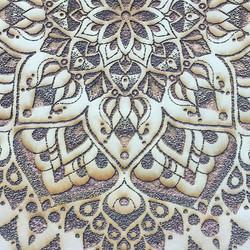Laser Etched Mandala Detail