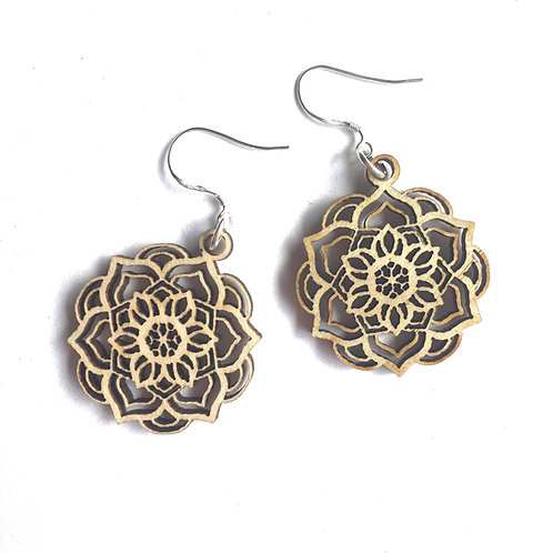 W/Sale -  Lotus Mandala Earrings