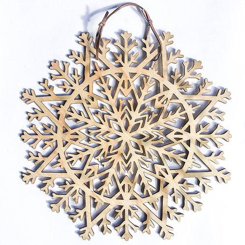 Xmas Snowflake Mandala Wreath