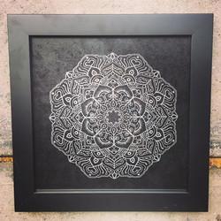Laser Etched Glass Framed