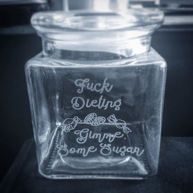Laser Etched Lolly Jar