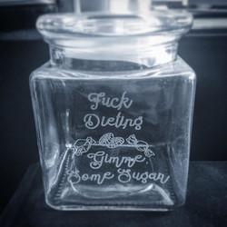 Laser Etched Lolly Jar
