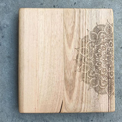Laser etched stool top