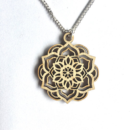 W/Sale - Lotus Mandala Necklace