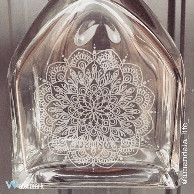 Laser Etched Mandala Decanter