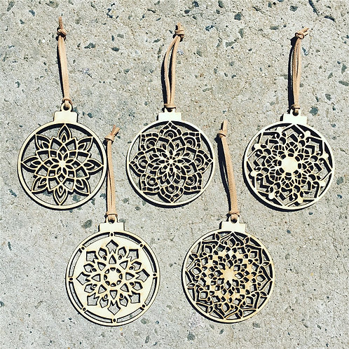 W/Sale- Mandala Baubles - Set of 5