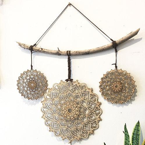 Mandala Natural Driftwood Wall Hanging