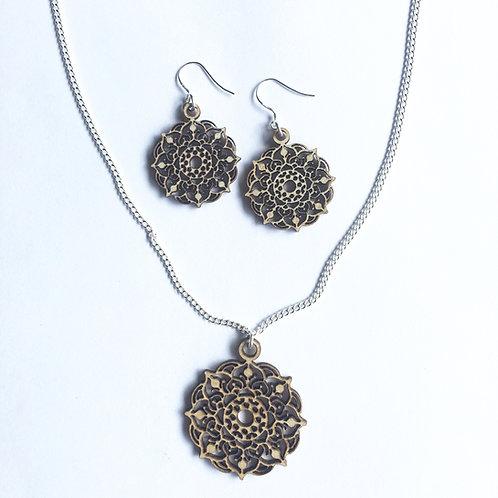 Mystic Mandala Necklace and Earring Set