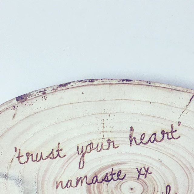 Trust Your Heart Laser Etched Wood