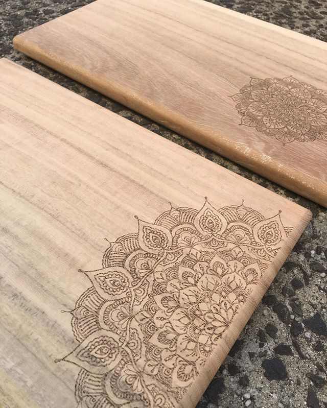 Laser Etched Mandala Chopping Board