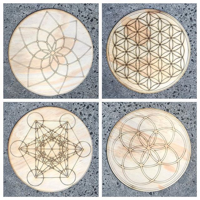 Laser Etched Sacred Geometry