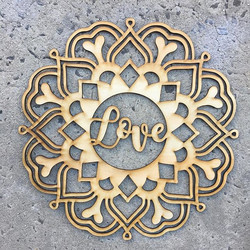 Laser Cut 'Love' Mandala