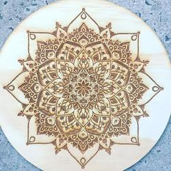 Laser Etched Mandala