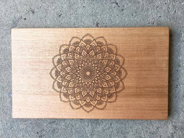 Mandala Etched Chopping Board