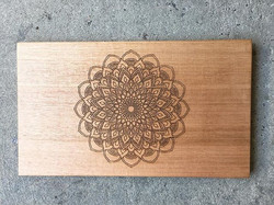 Mandala Etched Chopping Board