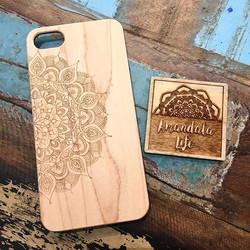 laser etched mandala phone case