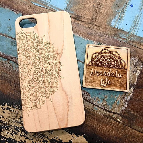 Wooden Mandala iPhone Case
