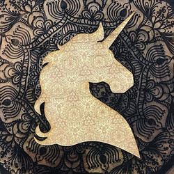 Laser Etched and cut Unicorn