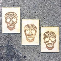 Laser Etched Mandala Skulls