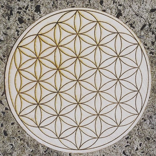 Flower of Life Laser Etched Mandala